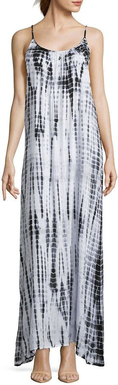 50392730b5 RAVIYA Raviya Sleeveless Ladder-Back Tie-Dye Maxi Dress Swim Cover-Up