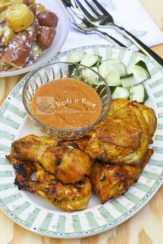 Simple yet tasty and aromatic Ayam Panggang Kunyit (Grilled Turmeric Chicken) using ground or fresh turmeric. Only 5 ingredients required. | Food to gladden the heart at RotiNRice.com