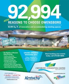 Owensboro Convention Center print ad for Small Market Meetings.