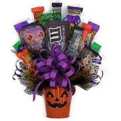 halloween bouquets   Halloween Candy Bouquet, Trick or Treat Candy Gift, Halloween Gift