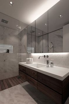 For more black and white bathroom Decorating Designing Ideas blackbathroom blackandwhitebathroom luxuryhomes, bathroom design ideas, luxury bathrooms, luxurybathrooms designinterior, luxury bath tubs 490329478179103876 Rustic Bathroom Vanities, Wood Bathroom, Bathroom Renos, Bathroom Layout, Bathroom Interior Design, Bathroom Renovations, Small Bathroom, Bathroom Cabinets, Bathroom Faucets