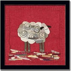 love the quilted circles on the sheep & the mini scraps as the ground