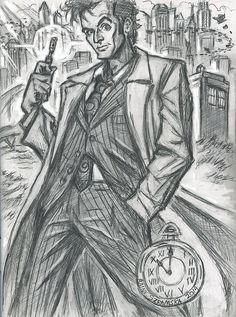Tenth Doctor (rough prep sketch) by rainesz