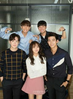 "Cast from ""Let's Fight Ghost"" Bring It On Ghost, Lets Fight Ghost, Korean Celebrities, Korean Actors, Kwon Yul, Kim So Hyun Fashion, Oh My Ghostess, Hyun Soo, Kim Sohyun"