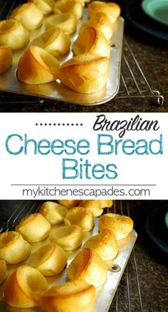 Brazilian Cheese Bread Bites Brazilian Cheese Bread Bites this quick recipe is authentic and uses queso fresco and tapioca flour so they are gluten free Bread Bites Recipe, Bread Recipes, Cooking Recipes, Brazilian Cheese Bread, Comida Latina, Snacks, Beignets, Churros, Quick Recipes