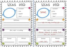 This is a great tool to get students think about Norwegian vocabulary and practice those weekly words. For the younger students I will make a big A3 copy and choose 2-3 words that we work on together during our morning session. Older students can use this individually or work in pairs.