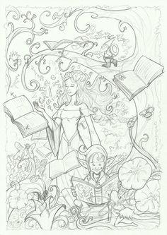 M.REDONDO- Comics: * Cartel de la Feria del Libro 2015 del IES ACCI