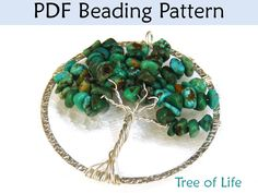 Bead Pattern Tutorial Pendent - Wire Working - Simple Bead Patterns - Tree of Life #1721