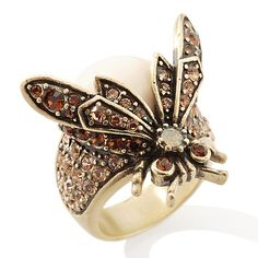 """Heidi Daus """"Bug Off"""" Crystal-Accented Ring"""