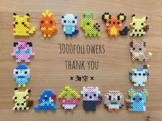 Hama Beads Pokemon, Diy Perler Beads, Hama Beads Design, Perler Bead Art, Melty Bead Patterns, Pearler Bead Patterns, Perler Patterns, Beading Patterns, Pixel Beads