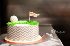 Groom's cake. Modern chevron golf themed cake. The Miami Bride Guide » A Wedding Planner's Guide for the Perfect Miami Wedding