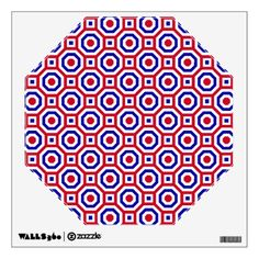 Red/White/Blue Nested Octagon Wall Decal- An #octagon of octagons!