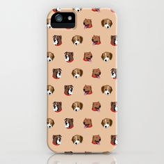 Cute and Elegant Dog Head Graphic Pattern iPhone & iPod Case by 1986 - $35.00