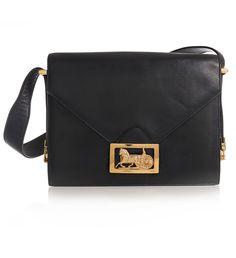 Sophisticated vintage Celine moc croc shoulder bag. Original gold ...