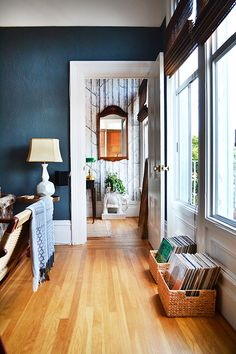 Oh someday. The blue paint. The wallpaper. The front door. The elephant! Wish it for mee.