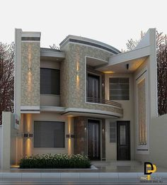 There are many modern residential house design ideas that we can discuss. Here we have outlined some key examples of modern residential house design ideas Bungalow House Design, House Front Design, Classic House Design, Modern House Design, Facade Design, Exterior Design, Dream House Exterior, House Elevation, Modern House Plans