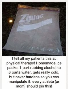 PHYSIO ANSWERS: #DIY-Home Made Ice and Hot Packs. Pinned by SOS Inc. Resources @so siu ki Inc. Resources.