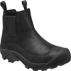 KEEN Men's Anchorage II Leather Winter Ankle Boots Black Gargoyle 1013808 #KEEN #WorkSafety