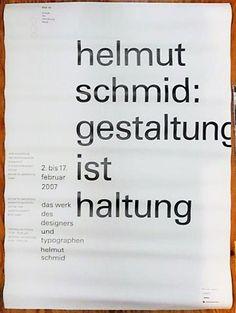 helmut schmid : gestaltung ist haltung<ポスター> | Pagina 古書店パージナ
