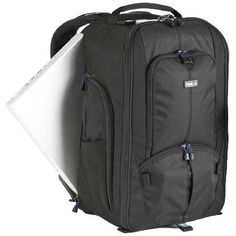"""Think Tank Streetwalker Hard Drive Backpack - Holds DSLR with 70-200mm Lens, 15"""" Laptop Compartment"""