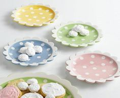 Tea Party Polka Dot Dessert Plates by DII; $8.99 each - PERFECT for Spring and Easter!  #theweedpatch