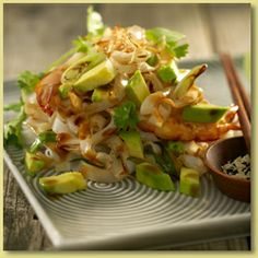 Asian Noodles with Ginger, Garlic and Avocado Recipe - Avocados Australia