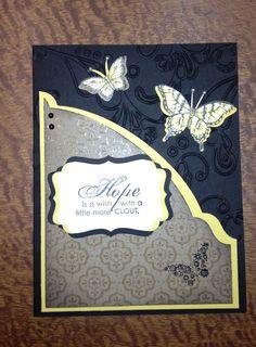 Papillon Potpourri stamp set- card for upcoming card swap