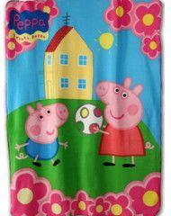 PEPPA PIG ~ Peppa & George Fleece Blanket