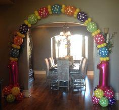 Kids Birthday Party Balloon Decorations