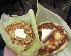 Fritas de elote con cuajada/Honduras