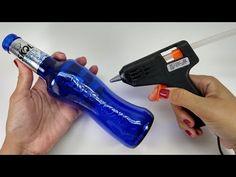 3 IDEIAS SENSACIONAIS COM GARRAFAS DE VIDRO ♥️ - YouTube Glass Bottle Crafts, Bottle Art, Glass Bottles, Recycled Art, Diy And Crafts, Recycling, Office Supplies, Painting, Youtube