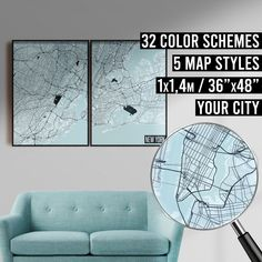 FREE SHIPPING WITHIN EU AND USA  We really love maps. Map prints, map posters, map illustrations. Our map designs consist 32 color schemes and 5 styles to choose from. Maps are very detailed and fully customizable if needed.    #mapprint #mapart #citymap #citymapprint #citymapposter #mapwallart #mapposter Map Posters, City Map Poster, New York Poster, Map Of New York, Map Wall Art, Map Art, Map Illustrations, Simple Poster, Custom Map
