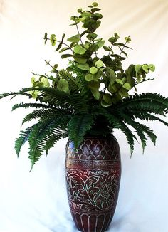Artificial plant, Silk plant, Palm plant Ferns Fake Plant arrangements, Plant decor, Greenery centerpieces, Faux Flower Plant for office - by artsandcreations on Etsy https://www.etsy.com/listing/209747207/artificial-plant-silk-plant-palm-plant
