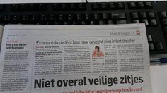 Vandaag in het AD 12 april in het Diamant theater, Den Haag voor meer speeldata, zie www.stillen.nl