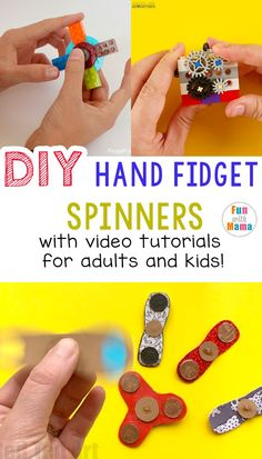 DIY Hand Fidget Spinners With Videos! How to make fidget spinners, DIY Fidget Spinner