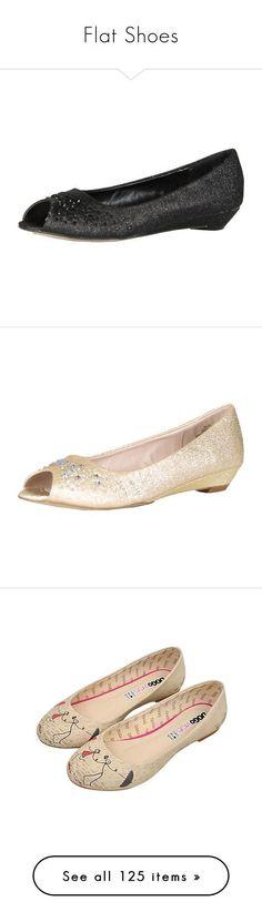 """Flat Shoes"" by jennross76 ❤ liked on Polyvore featuring shoes, flats, 76, useful, pumps, black, black low heel pumps, black sparkly flats, black wedge shoes and peep toe platform pumps #lowplatformpumps #platformpumpswedges"