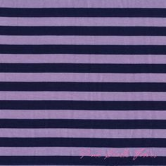 Riley Blake Designs Small Stripe Navy Purple - JERSEY KNIT