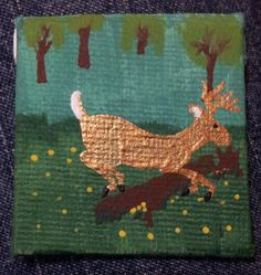 Tiny Deer Painting by Ty