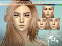 The Sims Resource: Beach Glow Skin by Pralinesims • Sims 4 Downloads