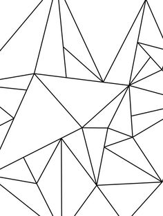Geometric Art Black and White Minimalist Art por MelindaWoodDesigns