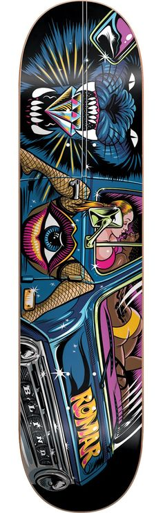 33cda9f0be47 Blind Skateboards Kevin Romar This Deck's A-Rockin' Deck Skateboard Deck  Art, Skateboard