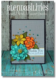 with secret garden flowers. blend abilities. dsp from everyday adventure project life card collection