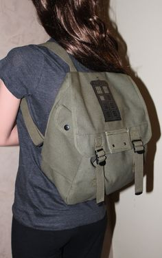 d41f28f99ef Doctor Who Inspired - Tardis Military Backpack.  40.00