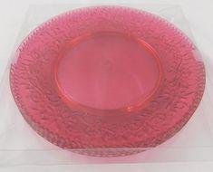 Ashland Summer Pink Plate Set of 4 New Outdoor Living Plastic #Ashland