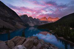 Moraine lake sunrise by victor Liu on 500px
