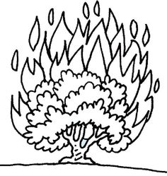 Burning Bush Coloring Page | Printable Coloring Pages