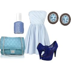 shades of blue, created by allieduncan on Polyvore