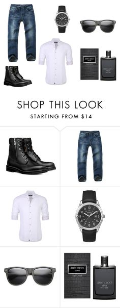seductor by laura-juvera on Polyvore featuring Stone Rose, Timex, ZeroUV, Jimmy Choo, men's fashion and menswear