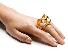 3-in-one ring. gold plated silver.Design Emquies-Holstein