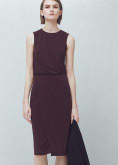 Sukienka plisowany detal - Sukienki dla Kobieta | MANGO Polska